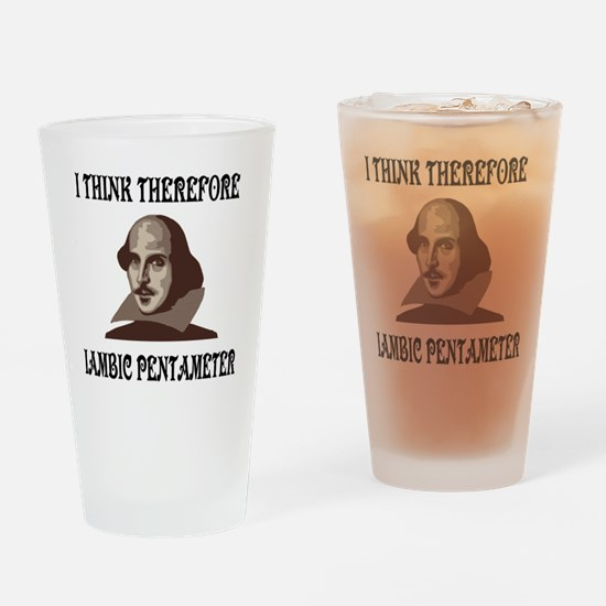 shakespeare-01 Drinking Glass