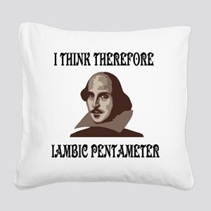 shakespeare-01 Square Canvas Pillow