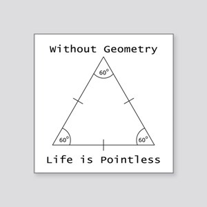 Geometry Like Black Sticker