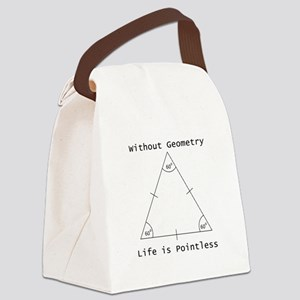 Geometry Like Black Canvas Lunch Bag