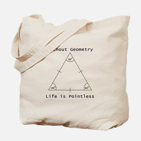 Geometry Like Black Tote Bag