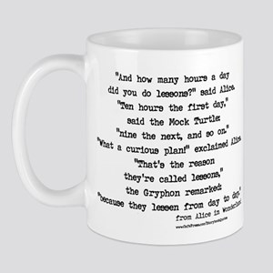 """Lessons"" Quote - Gryphon & M Mug"