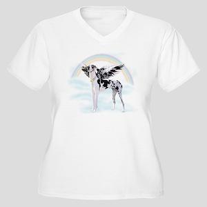 Harlequin Great D Women's Plus Size V-Neck T-Shirt