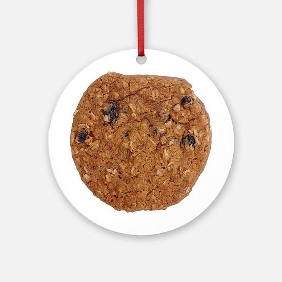 Oatmeal Raisin Cookie Ornament (Round)