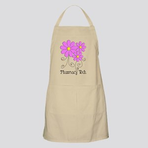 pharmacy tech FLOWER PINK Apron