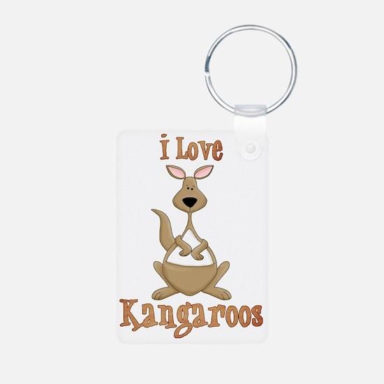 i love kangaroos Keychains