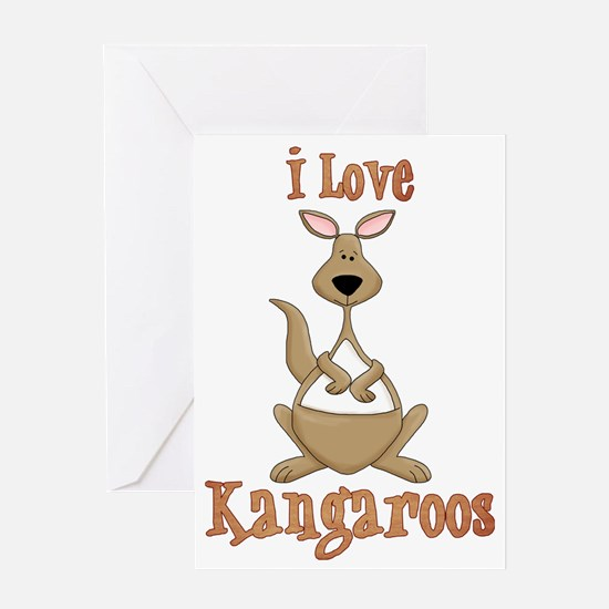 i love kangaroos Greeting Card