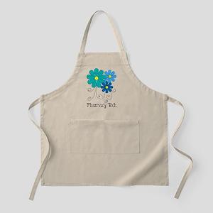 pharmacy tech flower blue Apron