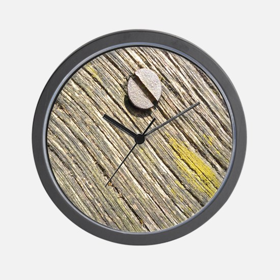 Nailed Down Driftwood Wall Clock