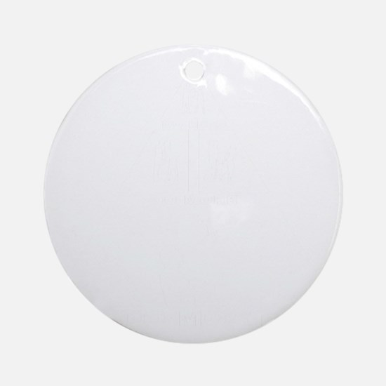 Sugar-Glider-Petting-11-B Round Ornament