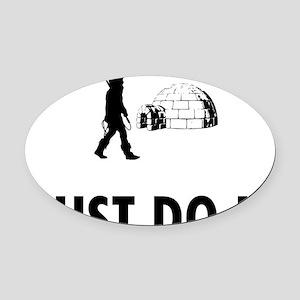 Eskimo-08-A Oval Car Magnet