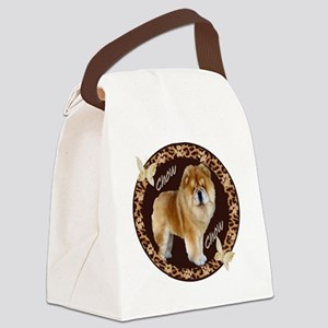 chow chow pawprints Canvas Lunch Bag