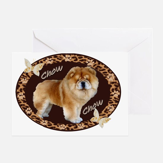 Chow Chow Pawprints Greeting Card