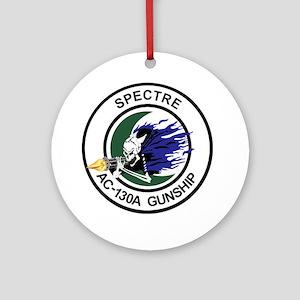 AC-130A Spectre Gunship Round Ornament