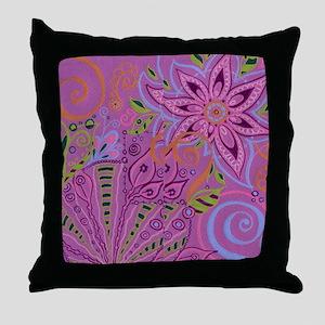 Whimsy Garden Throw Pillow