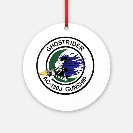 AC-130J Ghostrider Gunship Round Ornament