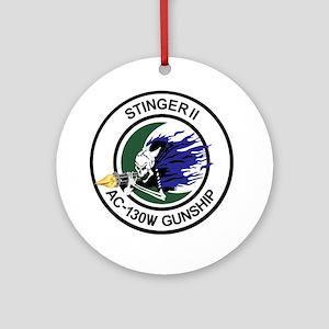 AC-130W Stinger II Gunship Round Ornament