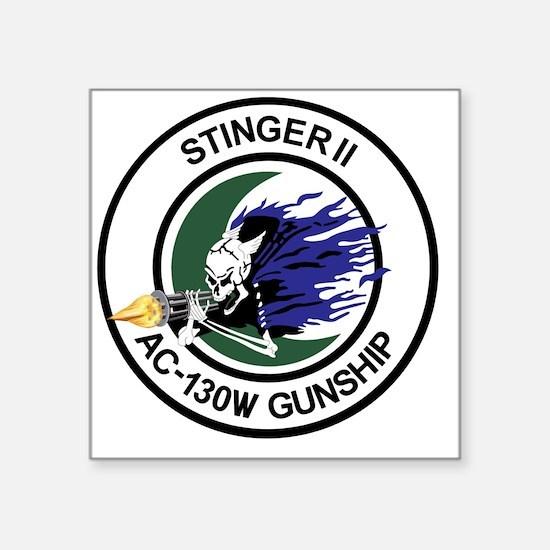 "AC-130W Stinger II Gunship Square Sticker 3"" x 3"""