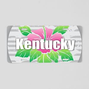Kentucky Hibiscus Aluminum License Plate