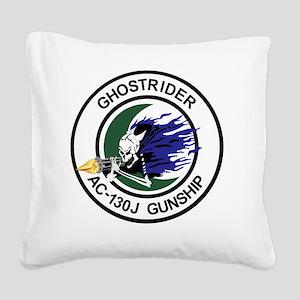 AC-130J Ghostrider Gunship Square Canvas Pillow
