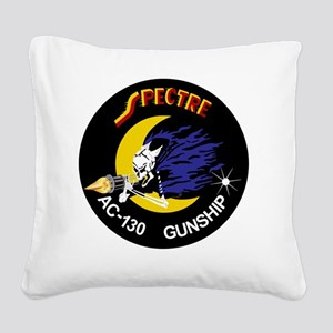 AC-130 Spectre Gunship Square Canvas Pillow