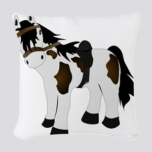 Paint Pony Woven Throw Pillow