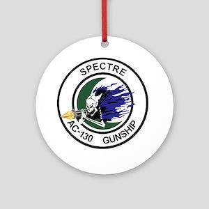AC-130 Spectre Gunship Round Ornament