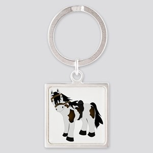 Paint Pony Square Keychain