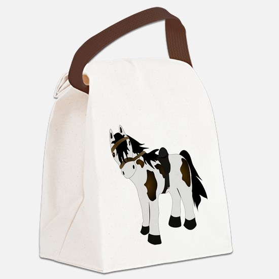 Paint Pony Canvas Lunch Bag