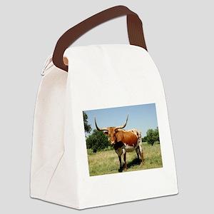 Longhorn Cow Canvas Lunch Bag