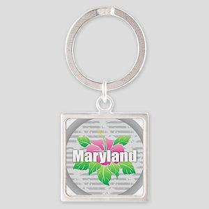Maryland Hibiscus Keychains