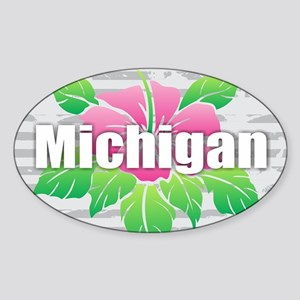 Michigan Hibiscus Sticker