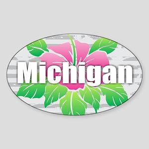 Michigan Hibiscus Sticker