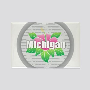 Michigan Hibiscus Magnets