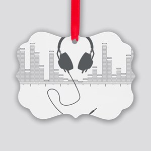 Headphones with Audio Bar Graph i Picture Ornament