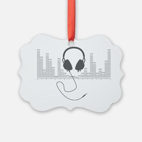 Headphones with Audio Bar Graph i Ornament