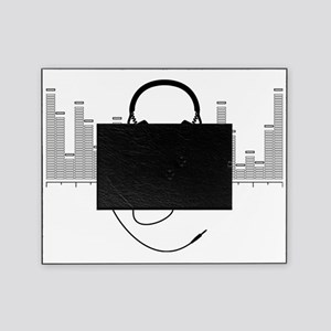 Headphones with Audio Bar Graph in B Picture Frame