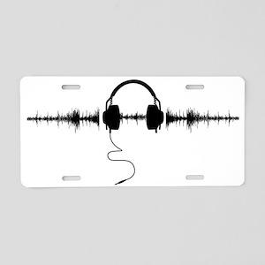 Headphones with Soundwave S Aluminum License Plate