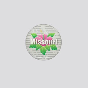 Missouri Hibiscus Mini Button