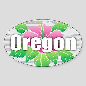 Oregon Hibiscus Sticker