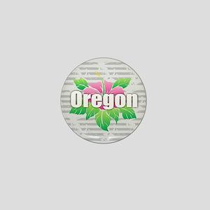 Oregon Hibiscus Mini Button