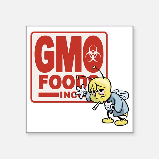 "gmo-bee-T Square Sticker 3"" x 3"""
