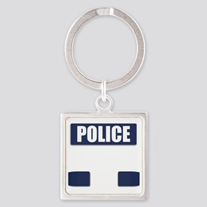 Police Bullet-Proof Vest Square Keychain