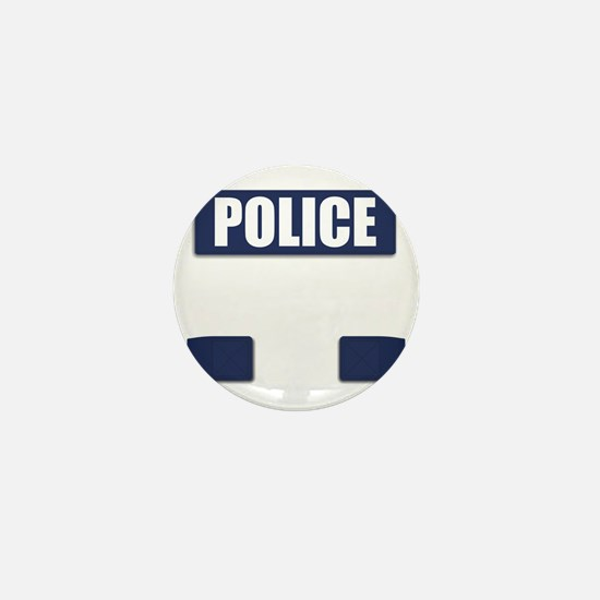 Police Bullet-Proof Vest Mini Button