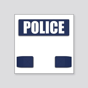 "Police Bullet-Proof Vest Square Sticker 3"" x 3"""