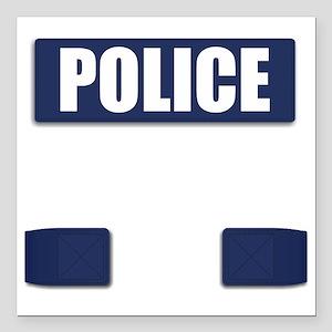 """Police Bullet-Proof Vest Square Car Magnet 3"""" x 3"""""""