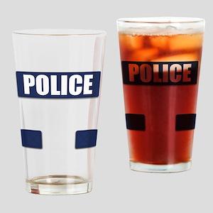 Police Bullet-Proof Vest Drinking Glass