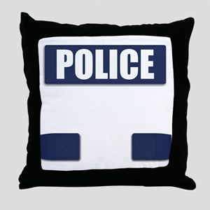 Police Bullet-Proof Vest Throw Pillow