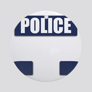 Police Bullet-Proof Vest Round Ornament
