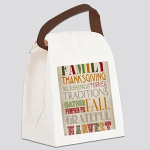 Happy Thanksgiving Subway Art Canvas Lunch Bag